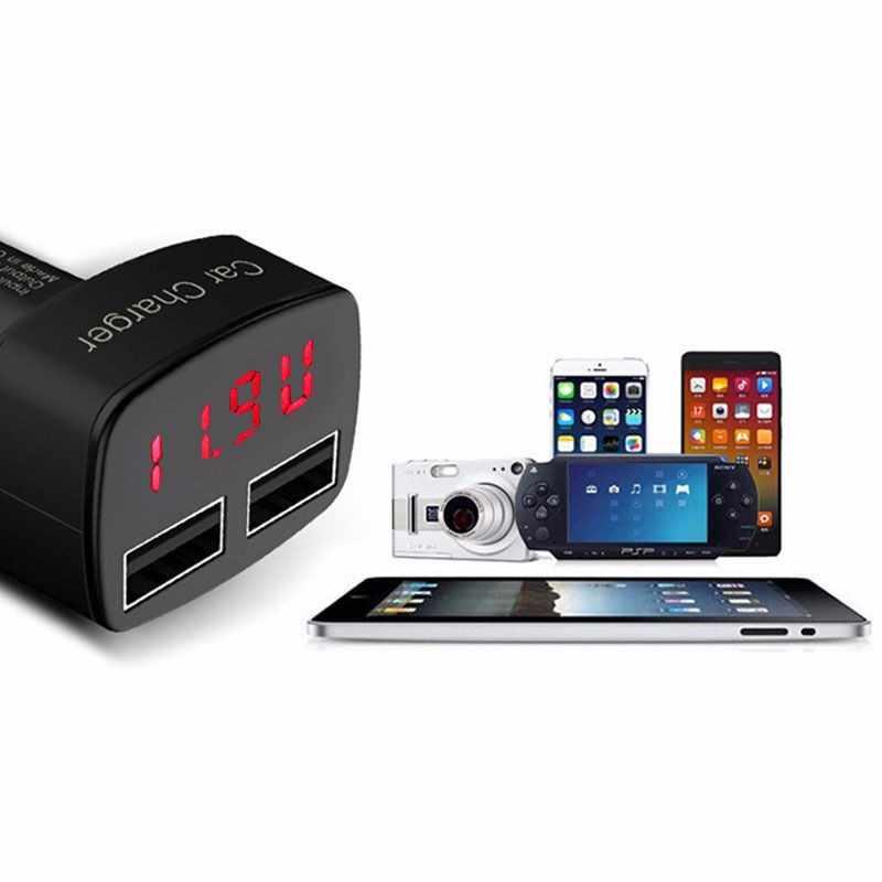 4 In 1 Dual USB Charger Mobil Usb Tegangan DC 5V 3.1A Tester untuk iPhone Kualitas Kontrol Mobil Charger untuk Ponsel Panas #20