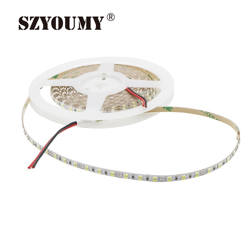 Modest Szyoumy Dc12v 216led/m Non-waterproof 5m Cool White 3014 Smd Double Row 5mm Fpc Width 1080led Flexible Tap Rope Strip Led Strips Led Lighting