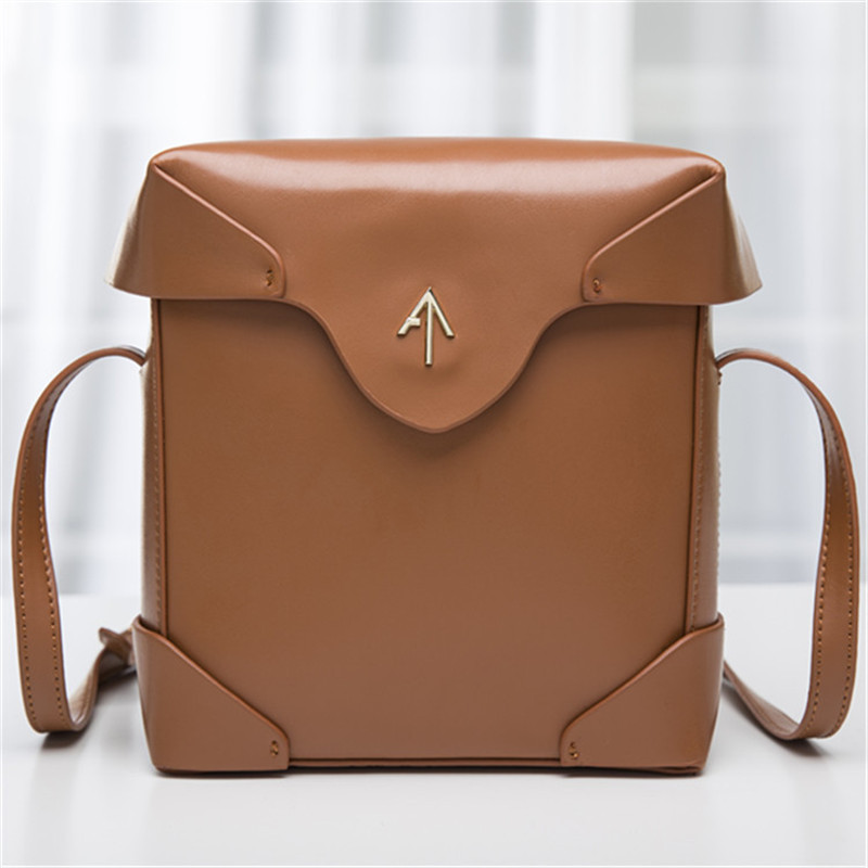 2016 genuine leather Box Arrow bag Women handbag Small Cover Flap Bag Shoulder Bags Cowhide Lady