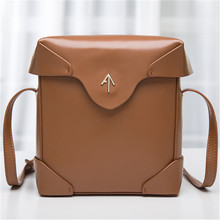 2016 genuine leather Box Arrow bag Women handbag   Small Cover Flap Bag Shoulder Bags Cowhide Lady Messenger bags Atelier Turkey