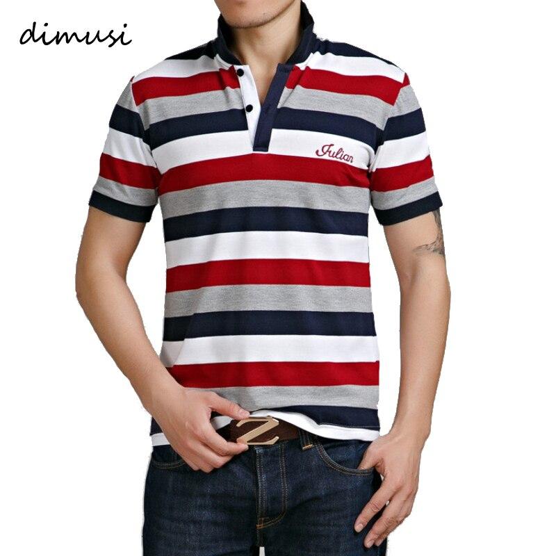 DIMUSI Summer Mens   POLO   Shirt Cotton Short Sleeve Camisas   Polo   Stand Collar Male Printed   Polo   Shirt Mens Tees 4XL 5XL,YA573