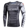 3D Winter Soldier Avengers 3 Compression Shirt Men Summer Long Sleeve Fitness Crossfit T Shirts Male Gym Clothing Tight Tops