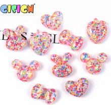 5Pcs Colorful Charms Addition For Slime Fluffy Accessories Soft Clay Plasticine Lizun Slime Supplies Decoration DIY Toys(China)