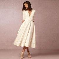 Lente diepe v-hals vrouwen maxi office dress elegante vestidos 2017 sexy lange dress 3xl wit avond jurken c3282