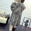 Mink fur coat women long paragraph with a hood fur coat imported 2016 new
