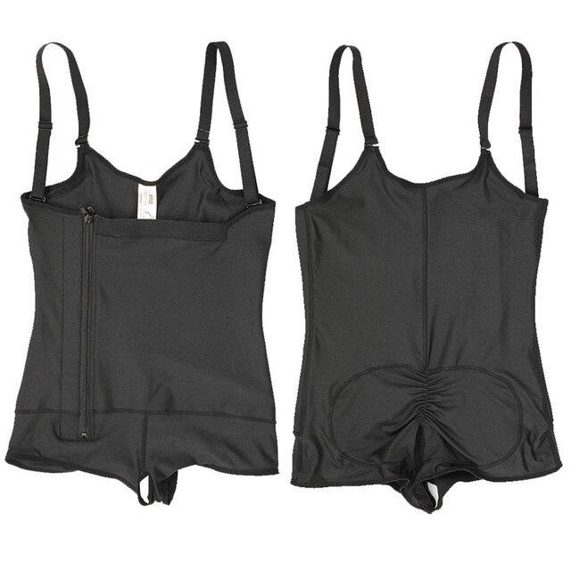Plus Size Hot Latex Sexy Women Body Shaper Post Liposuction Girdle Clip And Zip Bodysuit Vest Waist Shaper Reductoras Shapewear 6