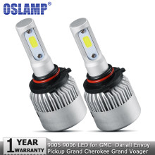 Oslamp 9005 9006 LED Headlight Bulbs 72W 8000lm Car Auto Headlamp 12v for GMC Danali Envoy Pickup Grand Cherokee Grand Voager(China)