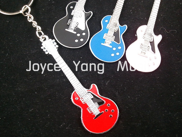 LP Electric Guitar Style Keychain(6 Colors)+30pcs Acoustic Electric Guitar Picks Plectrums Free Shipping