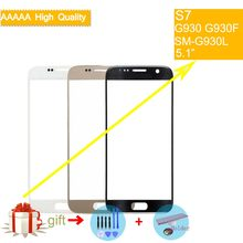 S7 TouchScreen For Samsung Galaxy S7 G930 G930F G930A SM-G930L Touch Screen Front Panel Glass Lens Outer NO LCD Display(China)
