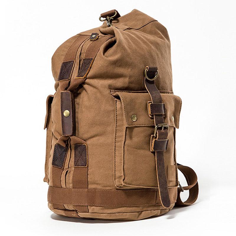 Promotion Designer Vintage Canvas Big Men Travel Bags Large Capacity Luggage Backpacks Weekender Duffle Bag