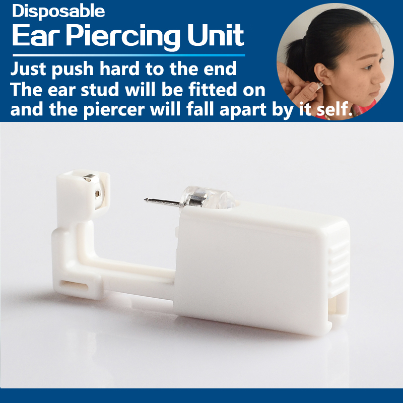1 Units Disposable Safe Sterile Unit Ear Stud Nose Studs Piercing Gun Piercer Tool Machine Kit Stud Earring Body Jewelry