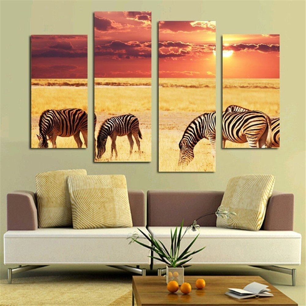 Nice Zebra Wall Art Canvas Pictures Inspiration - The Wall Art ...