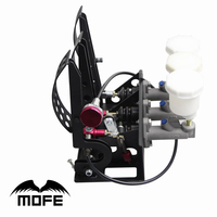 MOFE Products SPECIAL OFFER Floor Mounted Hydraulic Clutch Pedal Box With Balance Dash Adjuster+3 Plastic oil tank
