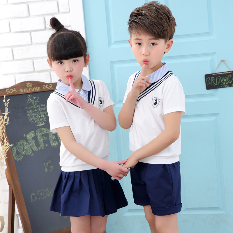 f4a03d8e8de9 New Pattern Kindergarten Park Summer Wear Self cultivation Children Uniform  Suit Pupil Class 2 Pieces Kids Clothing Sets-in Clothing Sets from Mother    Kids ...