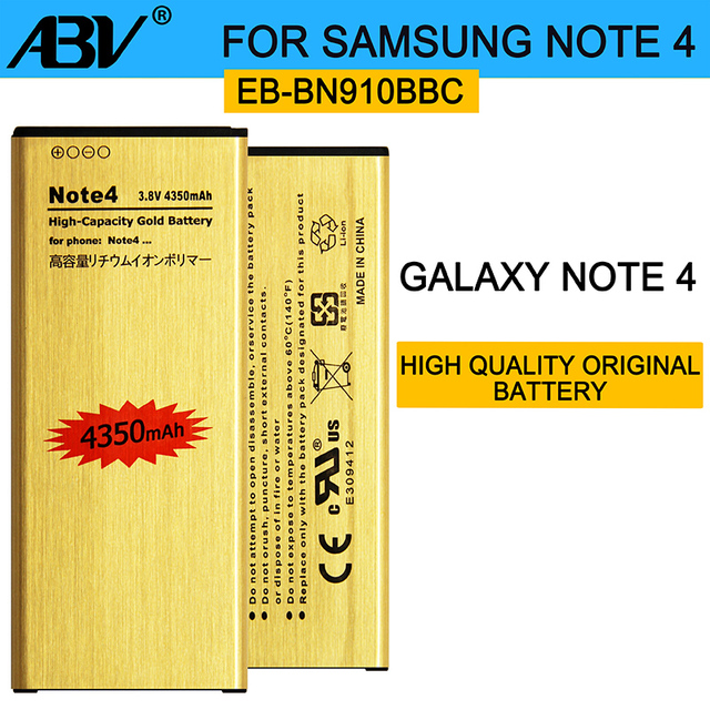 Hot sell Golden Replacement Battery EB-BN910BBE for Samsung GALAXY note4 note 4 SM-N9100 N9109W battery