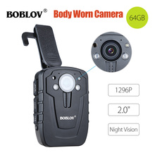 цена на BOBLOV HD31-D Mini Camara 32/64GB Ambarella A7 Body Camera Police 33MP 10m Night Vision 1296P HD Video Recorder IP66 Camera
