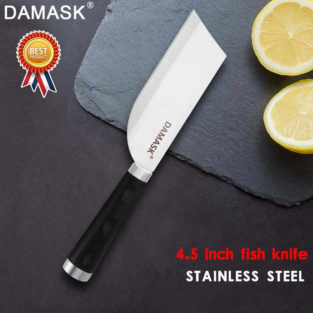 Damask Stainless Steel Fish Boning Knife Filleting Knife For Killing Fish Professional Chef Salmon Cleaver Sharp Cooking Tools