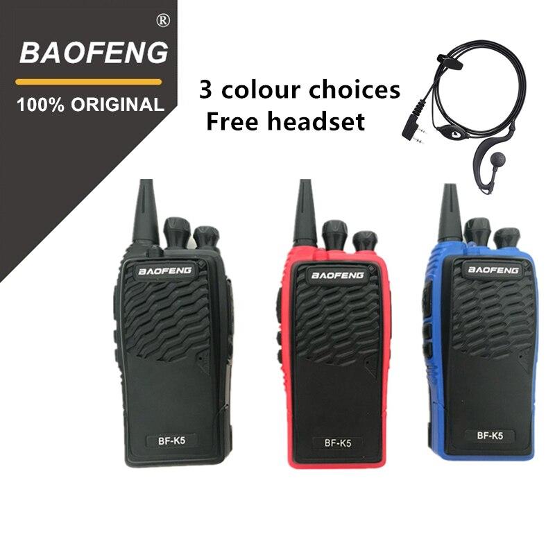 100% D'origine Baofeng Talkie Walkie BF-K5 Amateur Radio Portable à Deux Voies Radio Pofung K5 Woki Toki Sans Fil Fm Hm Émetteur-Récepteur