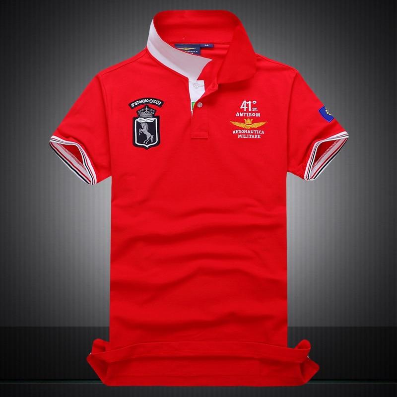 Wholesale Brand Godd Quality Casual Mens Polo Shirts 100% Cotton 41C Italian Designer Men Polos Slim Short Sleeve Shirt M951