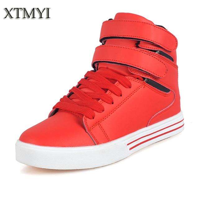 de Negro Tops Casuales Rojo arriba Hombres Blanco Altos 2016 Zapatos Los Encaje Hombre Para de pwFOIpqdY