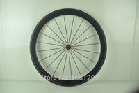 1pcs 700C 50mm Clincher Rim Fixed Gear Road Bicycle 3K UD 12K Full Carbon Fibre Bike