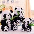 Kawaii Stuffed Animal 23/30/40 cm Adorável Panda Brinquedos de Pelúcia PP Algodão Macio Mamãe e crianças Panda Travesseiro de pelúcia de Presente de Aniversário