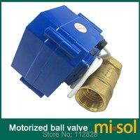 110V motorized ball valve,DN20 (NPT) brass,2 way, electrical valve, motorized valve