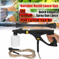 New 5M High Pressure Washer Spray Gun Nozzle Foam Bottle 160Bar/16Mpa For LAVOR VAX BS Car Washer Garden Wahing Cleaning Tools