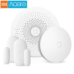 Original Xiaomi Mijia Smart Home Aqara Security Set Gateway Remote Control Window Door Sensor Set Switch Smart Home Device