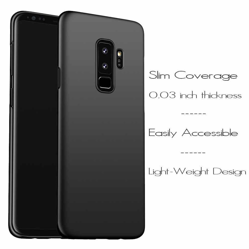 Darbeye dayanıklı Samsung Galaxy Not 9 Için 8 10 S10 S9 S8 Artı Lite 5G Ince Mat Sert PC Samsung kılıfı galaxy J4 J6 A6 A8 A7 2018