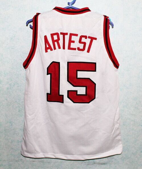 3fa864f05925 Ron Artest St JOHNS University basketball Jersey Embroidery Stitches  Customize any size and name