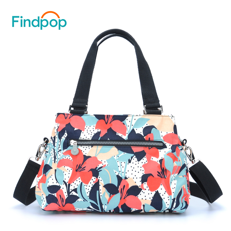 Findpop Floral Printed Handbag Fashion Casual Nylon Crossbody Bag For Women 2017 Large Capacity Waterproof Shoulder Totes Bag jinqiaoer nylon messenger bag large capacity women shoulder bag waterproof handbag casual tote fashion crossbody bag for lady