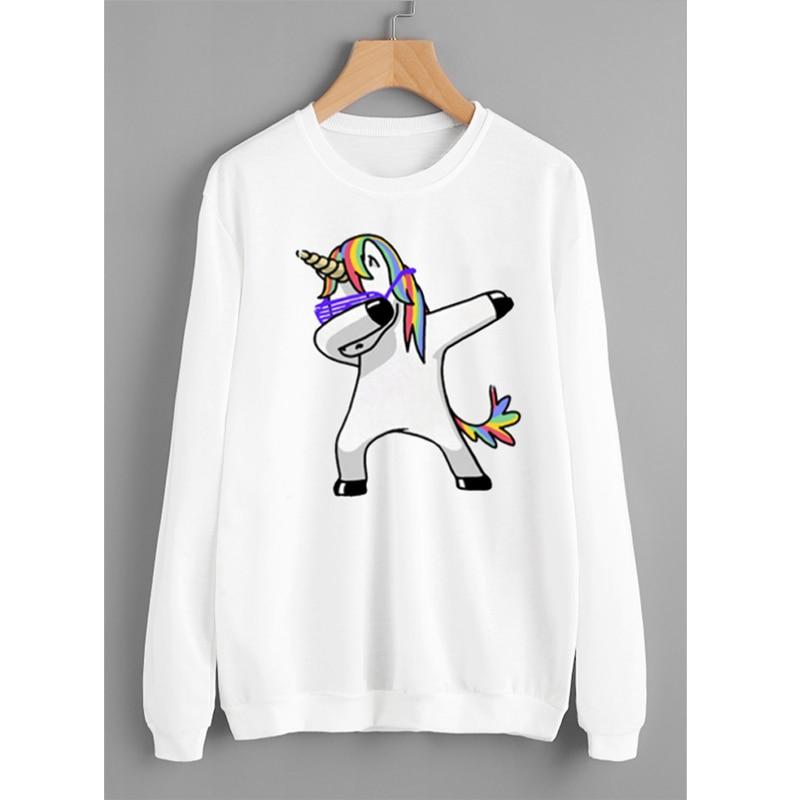 New Winter Sweet Unicorn Hoodies Women Ladies Long Sleeve Sweatshirts Female Jumper Cotton Pullover Tops Sweatshirt Sudaderas