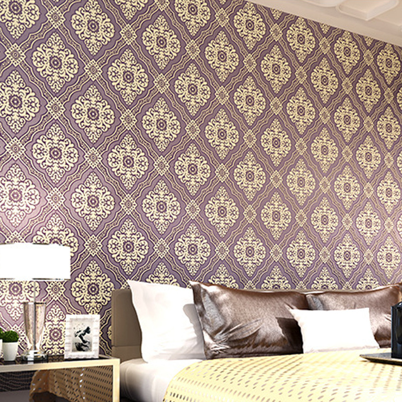 beibehang Stereo Relief Non Woven Wall paper Restaurant Bedroom Living Room TV Background Wallpaper papel de parede