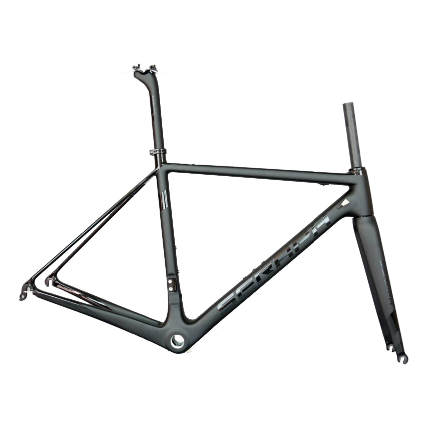 2019 Seraph Golssy Black Carbon Road Bicycle Frame Toray T1000 BSA Or BB30 All Internal Cable Road Bike Frame FM066