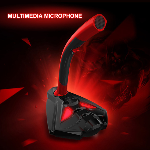KEXU Wired Microphone USB Studio Gaming 360 Omnidirectionnel PC Microphone for Computer Desktop Professional Dual Mic LED Mic