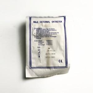 Image 5 - Colector de orina médico desechable, bolsa de látex para orina, catéter externo para hombre, catéter uretral de un solo uso de Malasia FDA 20 piezas