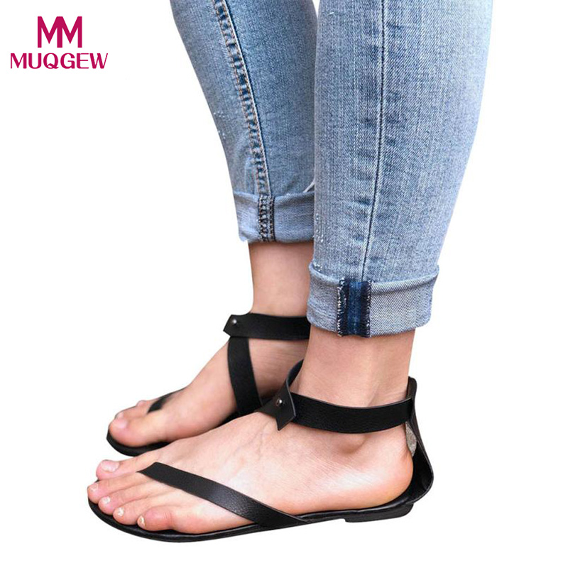 Fashion Shoes Women Summer Sandals Ladies Strap Flat Ankle Roman Cusual Slip-on Shoes Thong Footwear Female Sexy Beach Shoes summer women slip on shallow breathable casual shoes female fashion beach shoes slippers ladies footwear women shoes cld927