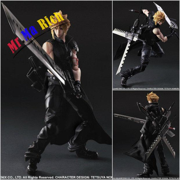 Final Fantasy 7 ADVENT CHILDREN Cloud Play Arts Kai PVC Figure Figurine In final fantasy type 0 hd