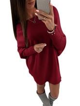 Winter Sweater Knitting Batwing Sleeve Pullover Dress Sexy Slash Neck Vestidos Feminino Mini kitting