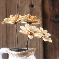 One Piece Dahlia Flower Handmade Natural Plant Combination With Long Rid Home Furnishing Hotel Decoration Original