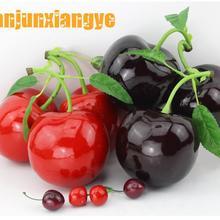 Праздничные вечерние принадлежности, искусственные украшения, имитация пены, 3D большой вишневый фрукт, модель украшения