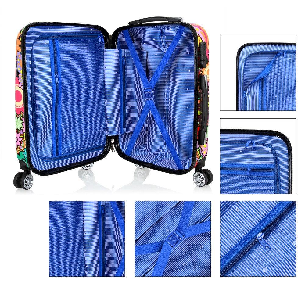 RU Стиль 20 24 28 Сумки на колёсиках Spinner чемодан на Колёса Чемоданы путешествия на колесах сумка тележка занят доска интернат коробка