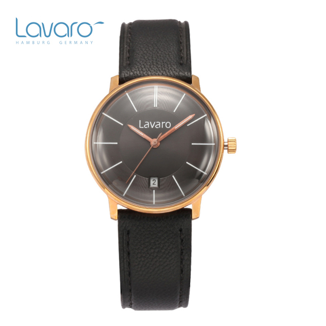 Womens Watches Lavaro Brand Luxury Casual Military Quartz Dress Wristwatch Genuine Leather Strap Clock Watch Relogio Masculino