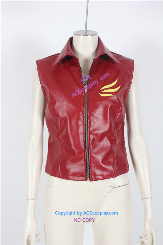 Resident Evil Claire Redfield cosplay costume vest only faux leather made