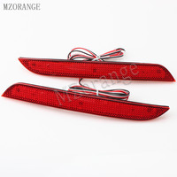 MZORANGE 1 Pair LED Rear Bumper Reflector Light Added Tail Brake Stop Lamp For BMW F10
