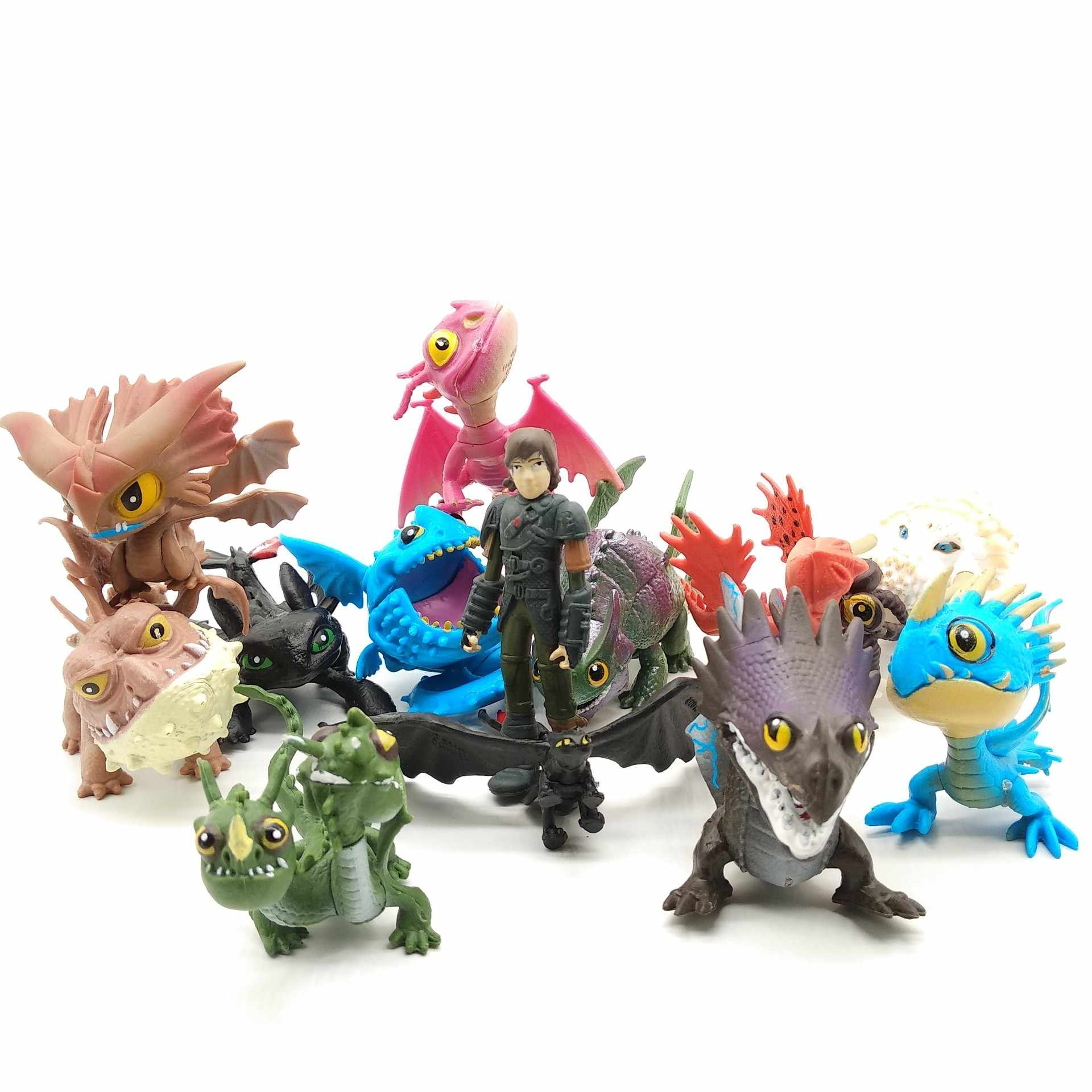 13 pz/set How To Train Your Dragon 2 Figure Night Fury senza denti Del Cranio Gronckle Deadly Nadder Notte di Dragon Action Figure giocattoli