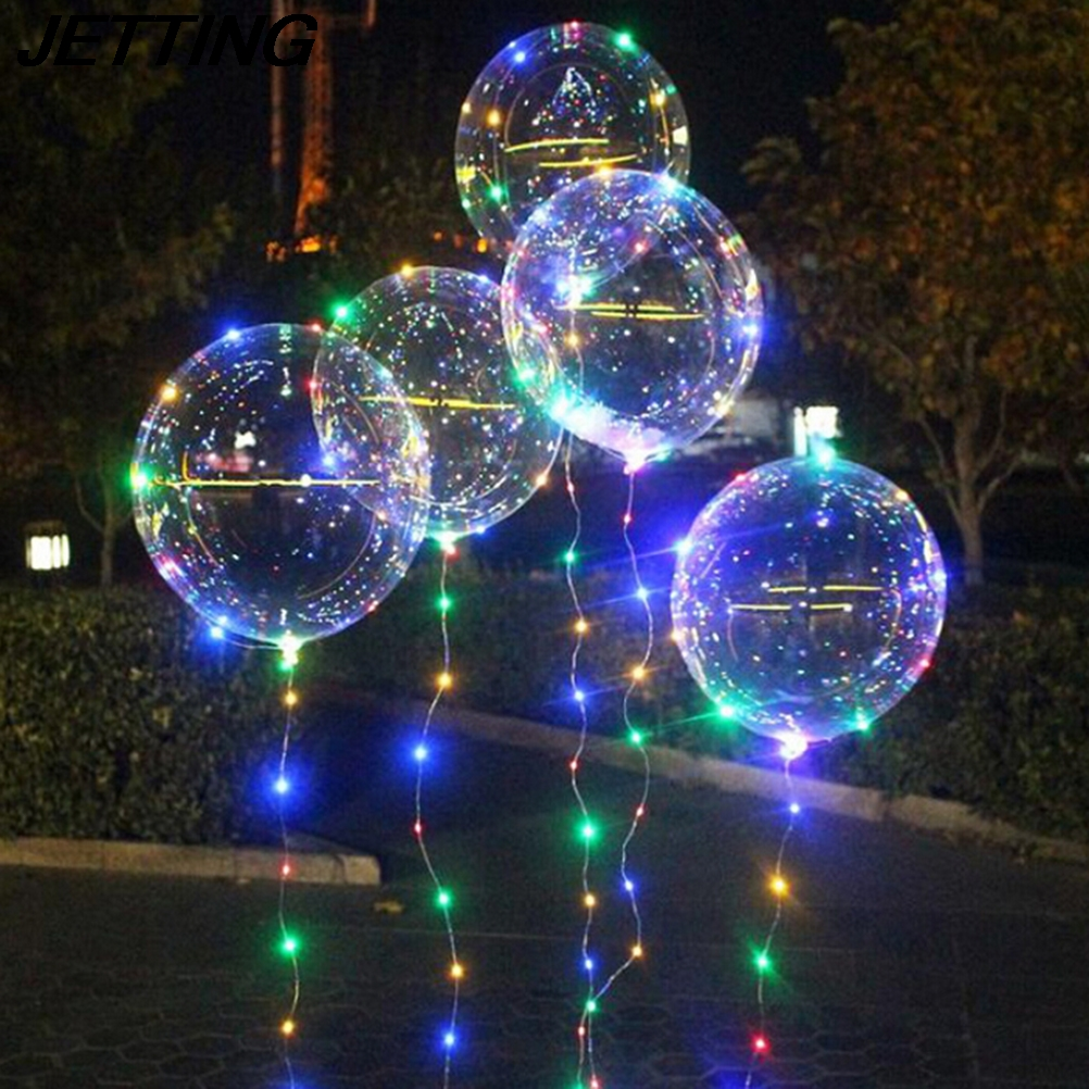 20 Inch Clear Bubble Balloon Lamp Led Strip Copper Wire Luminous Led Lights Wedding Decorations Birthday Party Supplie