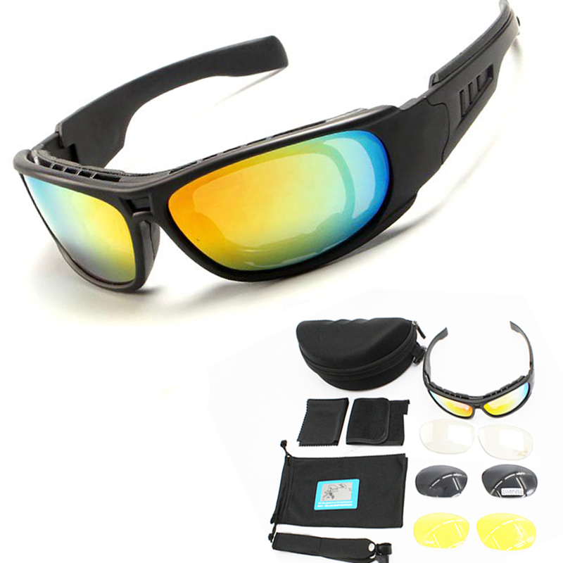 C5 C6 Polarizzati Sport Occhiali Occhiali Occhiali Tattici di Airsoft di Caccia di Tiro Occhiali Esercito Militare Occhiali Di Sicurezza Escursioni In Bicicletta Escursionismo Occhiali