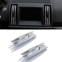 8pcs Chrome Interior Center Air Conditioning Vent Outlet Strips Trim For Land Rover Freelander 2 2008 2015 Accessory Car Styling